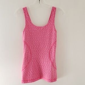 Zella pink spacedye fitted athletic scoop tank XS